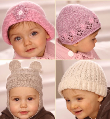 Sirdar Snuggly 4 ply -Child Hats -1742 ,Birth to 7 years